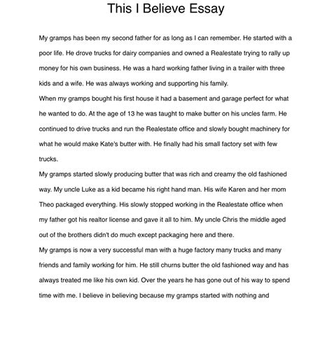 This I Believe 2 Essays by This I Believe Essay Writers Project Overview Website