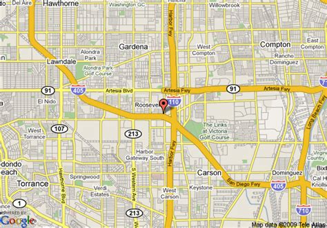 Gardena Ca Location Map Of Extended Stay America Economy Los Angeles South