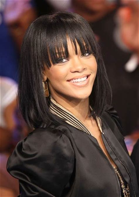 Rihanna Hairstyles Bob Haircut Makes Its Debut On Ellen Todaycom | rihanna bob umbrella www pixshark com images galleries