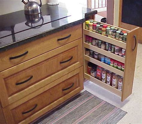 Customizable Spice Rack by Custom Kitchen Cabinets With Spice Rack Pullout Butters