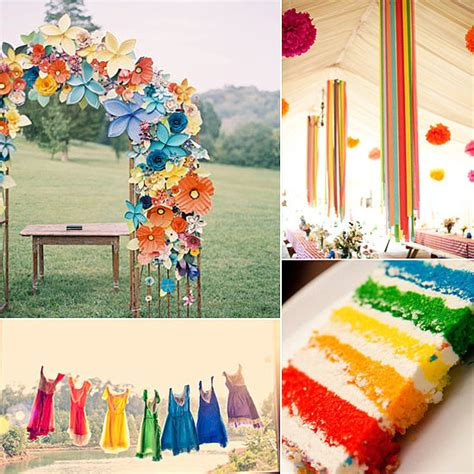 rainbow wedding theme popsugar love sex