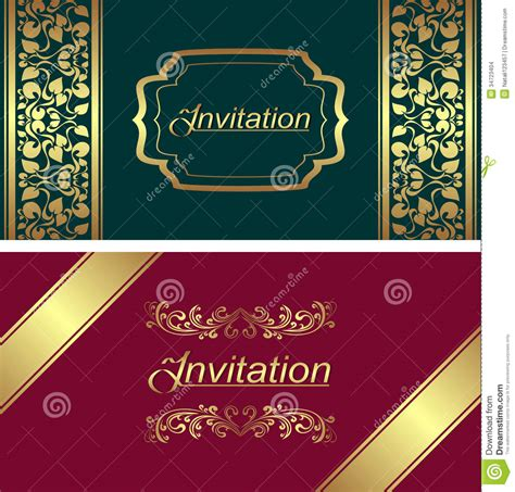 stationery stock card template invitation card template stock vector image of