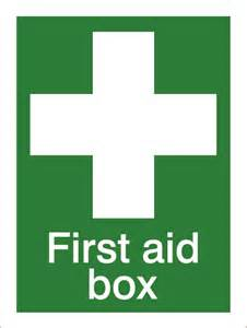 House nameplate co first aid box 15x20cm