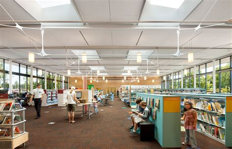 library interior kenmore library weinstein au architects urban