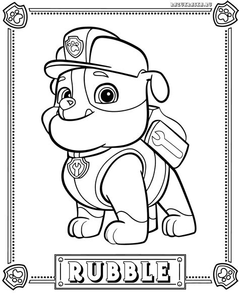 free paw patrol masks coloring pages