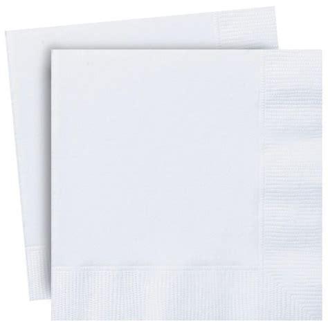 White Napkins   Plain Paper Serviettes   Party Napkins Online