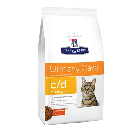 urinary food hill s prescription diet c d multicare urinary care with chicken cat food petco