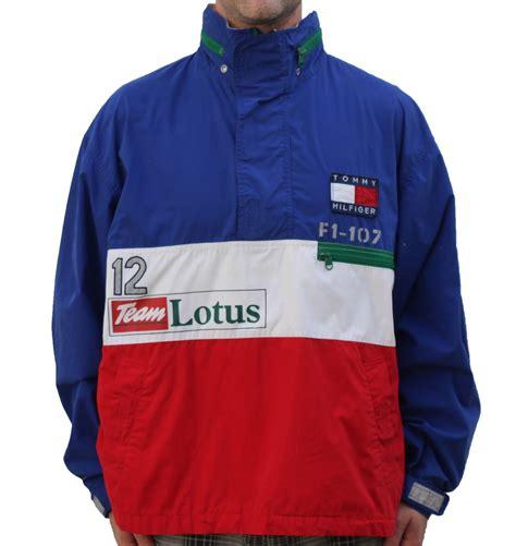 lotus f1 jacket vintage hilfiger lotus f1 blue pullover jacket