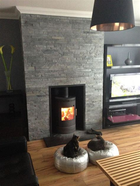 slate fireplace surround coziness and style in a