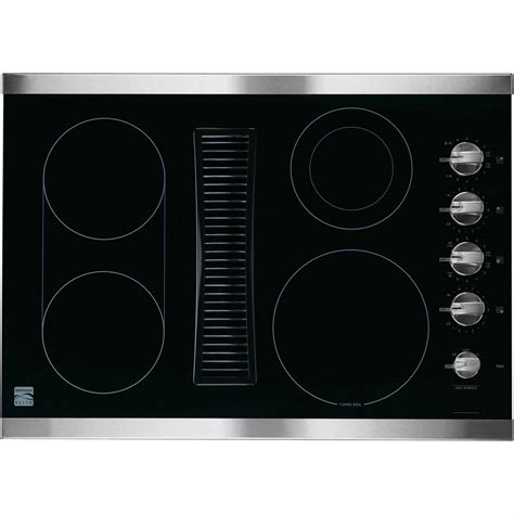 cooktop downdraft kenmore elite 44113 30 quot downdraft electric cooktop