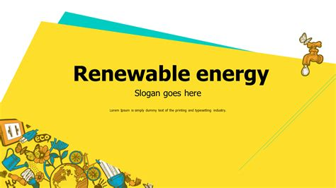 green energy powerpoint template choice image templates