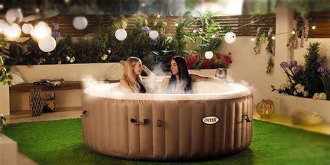 aldis luxury blow  hot tub    sale aldi