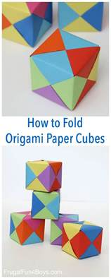 How To Fold Paper Cube - 25 unika simple origami for id 233 er p 229 origami