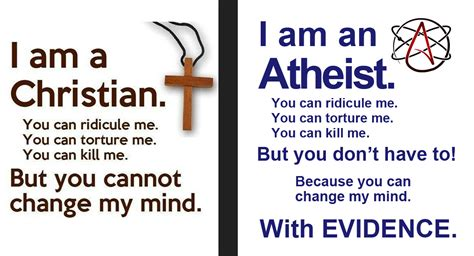 atheism kills the dangers of a world without god ã and cause for books response to the quot i m a christian you cannot change my