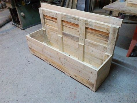 storage bench made from pallets pallet bench with storage 99 pallets
