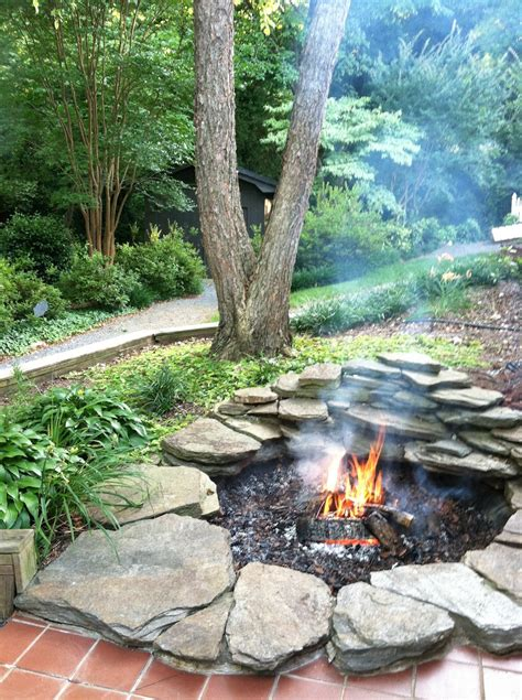 rock firepit 12 diy pits for your backyard the craftiest