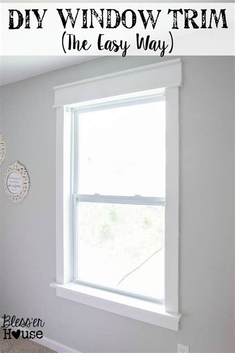 cheap interior trim ideas diy window trim the easy way