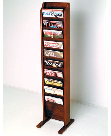 Magasine Rack by Free Standing Ten Pocket Magazine Rack Modern Magazine