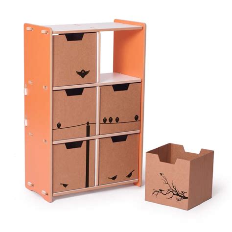 6 Cubby Shelf by Modern Orange And White 6 Cubby Shelf By Sprout