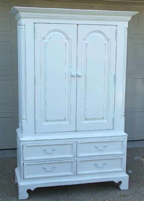 Painting A Wardrobe White by Painted White Armoire For Mbr For The Home