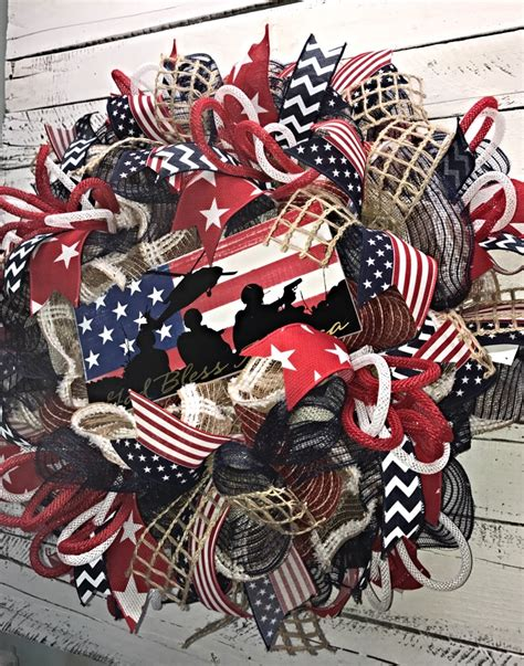 patriotic wreath 4th of july wreath fourth of july