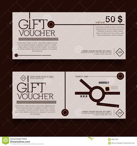 geschenkgutscheinschablone mit modernem muster schokolade vektor abbildung bild 58901228