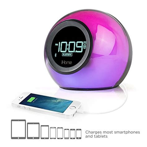 cabinet radio with usb port new ihome bluetooth color changing dual alarm clock radio