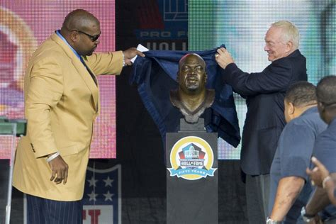 larry allen bench larry allen s hall of fame speech told details of his first date with wife nfl news