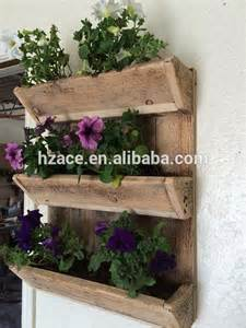 Small Wood Planter Box by Nautral Wood Crate Wooden Pot Plant Box Wall Planter For