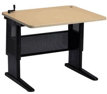 hand crank adjustable height desk mayline varitask basic hand crank adjustable height desk