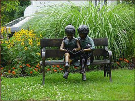 bronze outdoor children statue garden sculpture