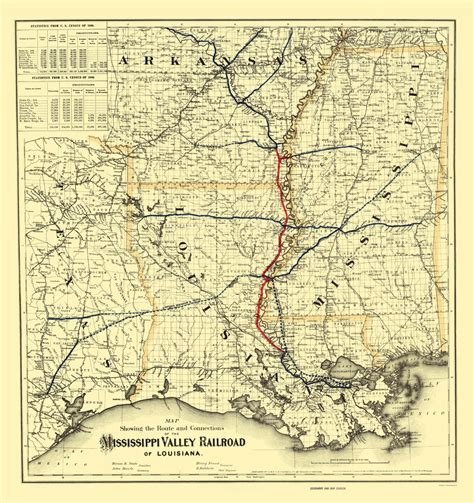 map of texas louisiana and mississippi railroad maps mississippi valley railroad of louisiana la tx ms ar by colton 1882