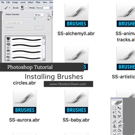 how to install patterns in photoshop cs6 on a mac youtube installing photoshop brushes gimp tutorial obsidian