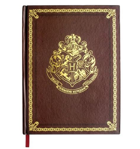 harry potter hogwarts ruled notebook books harry potter hogwarts gold crest notebook