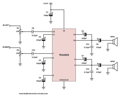 schematic diagram of electronic components the simplest audio lifier circuit diagram