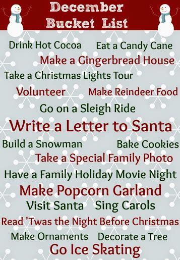 printable december bucket list checklist cij13 views