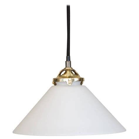 Murano Pendant Light Midcentury Murano Milk Glass Pendant Light At 1stdibs