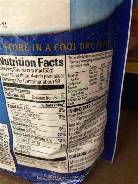 costco  krusteaz buttermilk pancake mix chart costcochaser