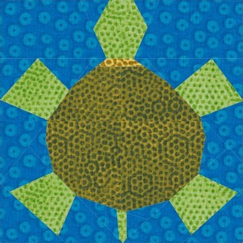 Turtle Quilt Patterns by Free Turtle Quilt Block Pdf Pattern Paper Pieced