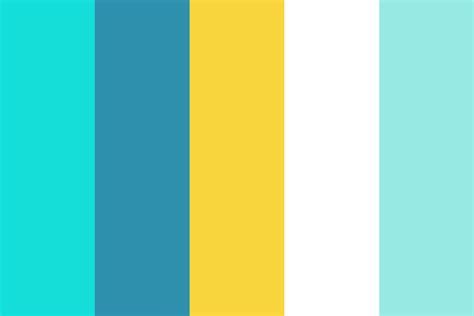 Blue Yellow Colors blue and yellow color palette home design