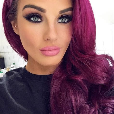 hair shadowing dark purple green and blonde on top brown on bottom magenta pink hair best hair styles color and cuts