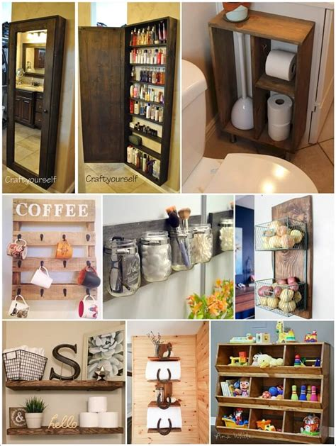 diy projects storage 36 amazing diy rustic storage projects
