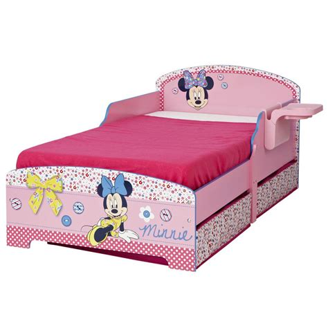 minnie mouse toddler bed minnie mouse toddler junior bed shelf underbed storage new ebay
