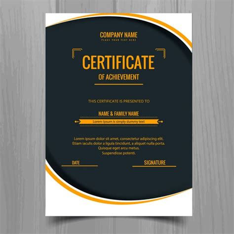 modern certificate templates modern stylish certificate template vector free
