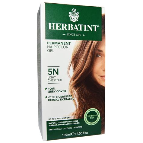herbatint hair color herbatint permanent haircolor gel 5n light chestnut 4