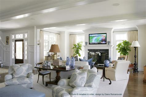 Diane Romanowski Interior Design by Melabee S Portfolio Traditional Living Room