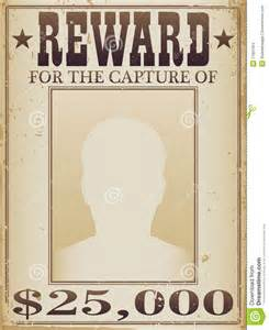 reward posters template reward poster stock images image 17931364