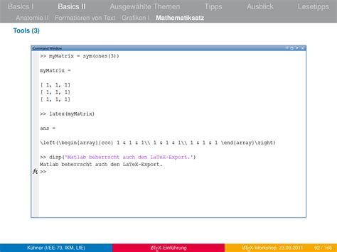 latex tutorial matrix matlab latex or latex mathematica for matrices with