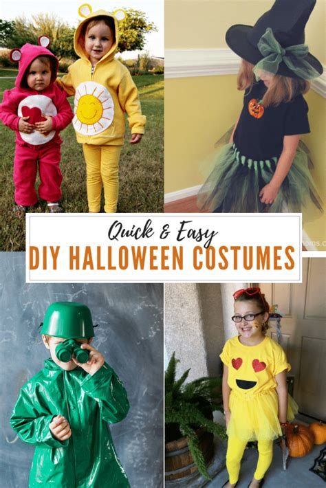 quick  easy diy halloween costumes  kids