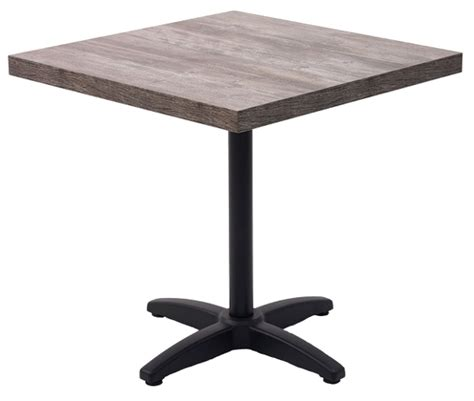 Square marco series modern indoor restaurant table w black base